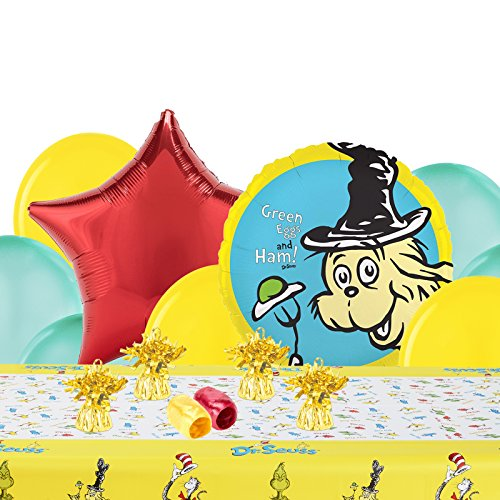 Dr Seuss Childrens Birthday Party Supplies - Decoration Pack -