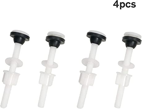 Amazon Com Toilet Tank Plastic Bolts 4 Pack M10 Tank To Bowl Bathroom Toilet Repair Kits Fitting Screws And Seal Set Pan Head Bolts Fits Two Piece Toilet White Home Improvement