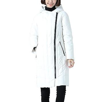 Down jacket Chaqueta Blanca Casual para Mujer De Pato Abajo ...