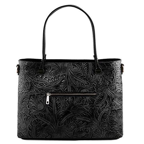Tuscany Leather Firenze TL Atena, Borsa a mano donna Rosso Rot ca. 37cm nero