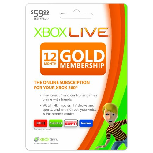 Microsoft Xbox Live 12 Month Gold Card (Xbox 12 Month Live)