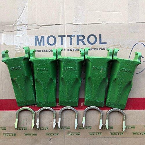 (27SYL fits Esco Style Bucket Teeth & 27LK Horseshoe Locks (Set of 5), AFTERMARKET Replacement Excavator Parts)