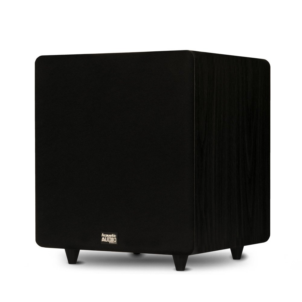 Acoustic Audio PSW500-12 Home Theater Powered 12'' LFE Subwoofer Black Front Firing Sub