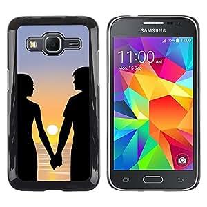 TopCaseStore / la caja del caucho duro de la cubierta de protección de la piel - Romance Sunset - Samsung Galaxy Core Prime SM-G360