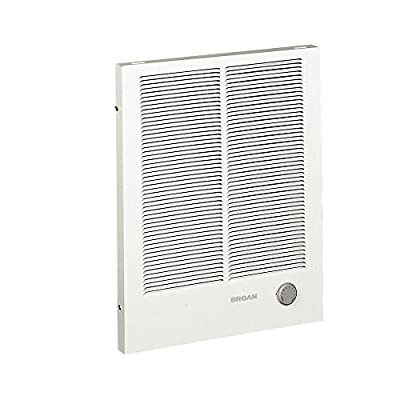 Broan 194 High Capacity Wall Heater, 1500/3000 Watt 240 VAC, White Painted Grille