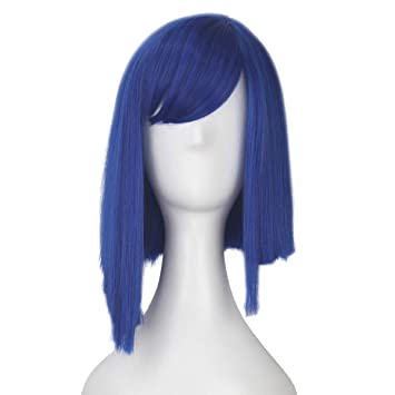 Amazon.com: iCos - Peluca de cosplay unisex de color azul y ...