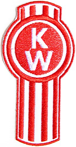 KW KENWORTH Truck Logo Sign AMG Sport Car Racing Patch Sew Iron on Applique Embroidered T shirt Jacket BY (Truck Applique T-shirt)