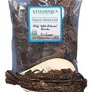 Organic Kombu Whole Leaf Kelp - Seaweed 4 oz bag - USDA & Vegan Certified - Kosher - Hand Harvested from the Atlantic Ocean Maine Coast - Sun Dried Raw & Wild Sea Vegetables VitaminSea (Kombu WL 4oz)