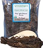 #4: Organic Kombu Whole Leaf Kelp - Seaweed 4 oz bag - USDA & Vegan Certified - Kosher - Hand Harvested from the Atlantic Ocean Maine Coast - Sun Dried Raw & Wild Sea Vegetables VitaminSea (Kombu WL 4oz)
