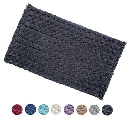 - Woven St Tufted Luxury Cotton Bath Rug Floor mat for Spa Vanity Shower Super Soft Machine Washable Bath Rugs for Bathroom/Kitchen Water Absorbent Anti-Skid Bedroom Area Rugs (21
