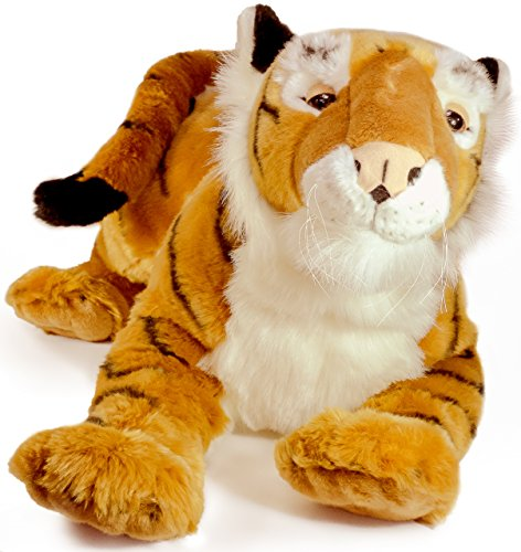 Trang the Indochinese Tiger | Huge 3 Foot Long Tiger Stuffed Animal Plush Cat | Great for Cuddling and Bedtime Stories! | By Tiger Tale Toys (Beds Largo Metal)