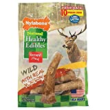 Nylabone Healthy Edibles Wild Venison Antler Dog Chew 10ct