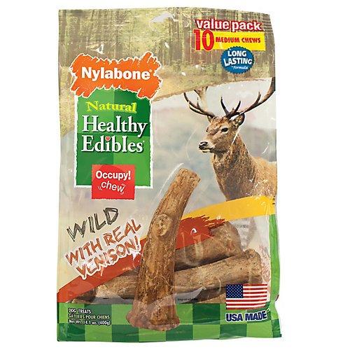 Cheap Nylabone Healthy Edibles Wild Venison Antler Dog Chew 10ct