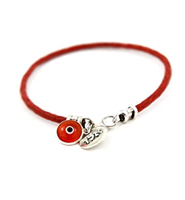 Handmade Hamsa Red String Kabbalah Bracelet for Prosperity Abundance and Success - 18 CM