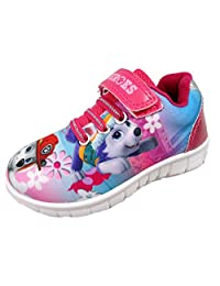 Paw Patrol Girls Pup Heroes Pink Canvas Trainer Runner Childrens Shoes UK Sizes 5-10