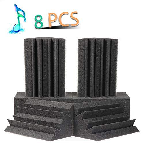 Acoustic Panels Bass Trap Studio Corner Wall Studio Foam Sound Proof Panels Nosie Dampening Foam 8 Pack-8.3