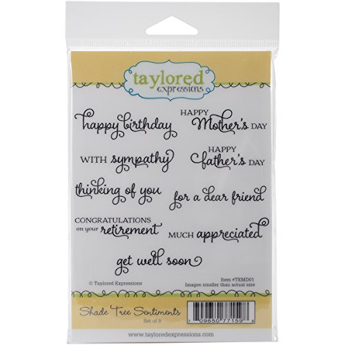 Taylored Expressions Cling Stamps, 4.25-Inch by 6.5-Inch,