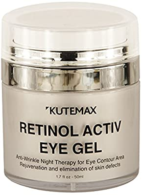 Retinol Under Eye Gel - Combo Eye Cream for Dark Circles, Eye Puffiness , Crows Feet, Eye Bags, Fine Lines – Organic Anti-Aging Wrinkle Cream – 1.7 fl oz/50 ml