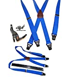 Hold-Ups 36'' Kids Hold-up Brand Blue Suspenders with Patented Gripper Clasps