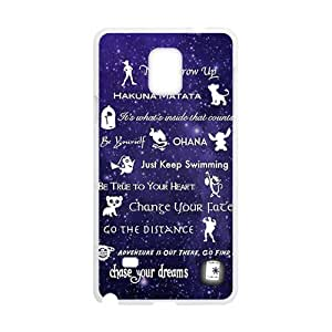 Purple design Chasing your dream motto Cell Phone Case for Samsung Galaxy Note4 Kimberly Kurzendoerfer