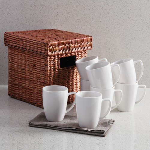 white coffee mugs set of 8 - 5