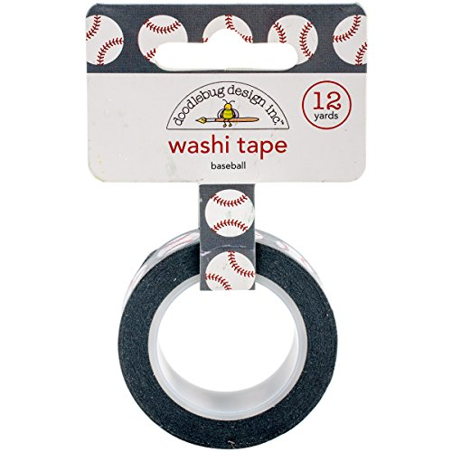 Doodlebug Washi Tape 15mm X 12yd-Home Run Baseballs