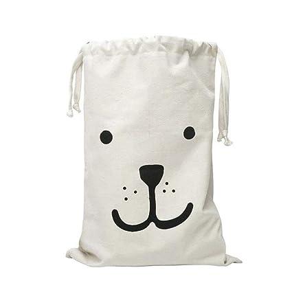 JJOnlinestore-bag con un bonito lienzo para guardar juguetes; Bolsa con cordón para lavandería, lavandería, almacenamiento grande, viajes, juguetes; ...