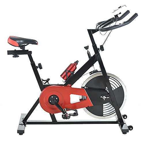 Z ZTDM Commercial Indoor Cycling Bike, Professional Spinning Bike - 33lbs Flywheel, LED Monitor,Black & Red, Stationary Exercise Bike Trainer,Aerobic Cadio Riding by Z ZTDM