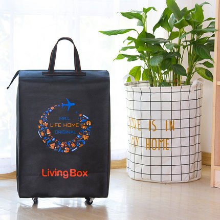 ELINKUME Faltbare Reisetaschen Travel Bags verstärken Koffer mit frei-Walk Alloy Räder Trolley Wochenende Shopping Bag molto Tasche leichtes Gepäck-6 Farben zu wählen