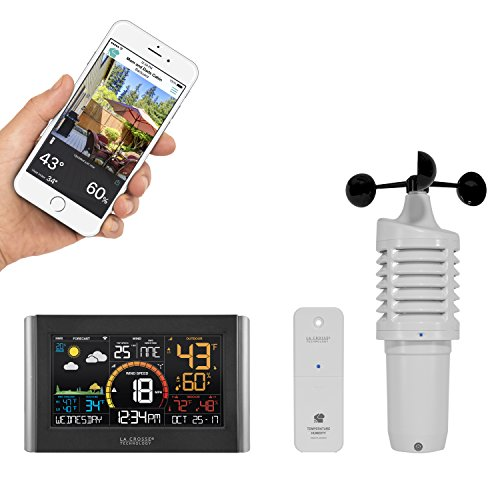 Wireless Atomic Weather Station - La Crosse Technology  V21-WTH Wireless Wi-Fi Weather Station