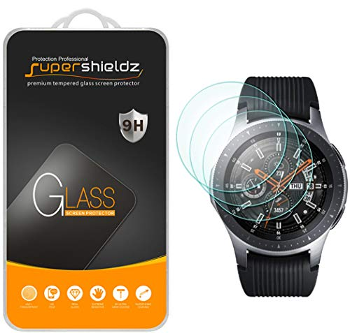 Supershieldz (3 Pack) for Samsung Galaxy Watch (46mm) Tempered Glass Screen Protector, (Full Screen Coverage) Anti Scratch, Bubble Free (Best Screen Protector For Samsung Galaxy S4)