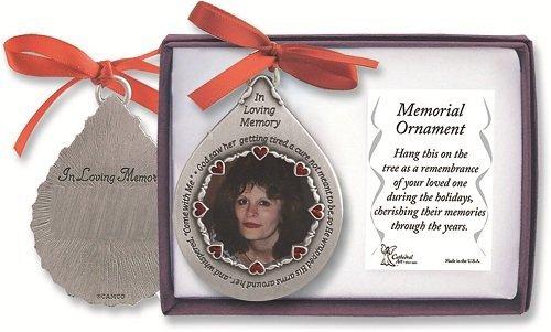 In Loving Memory PEWTER Photo Frame ORNAMENT -