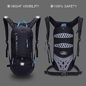 10L Biking Backpack Waterproof,Jarvan Hydration Pack with 2L Backpack Water Bladder Cycling Ski Rucksack Biking Bag,Breathable Shoulder Backpack Lightweight for Outdoor Sports Camping Hiking Running