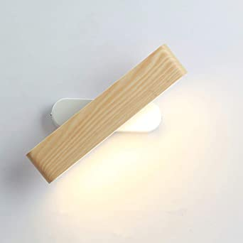Martll Lámpara de Pared LED Interior Aplique de Pared Madera Luz de pared 360° Giratoria Blanco Cálido Lámpara Pared para Sala de estar Dormitorio Escalera Pasillo (28cm): Amazon.es: Iluminación