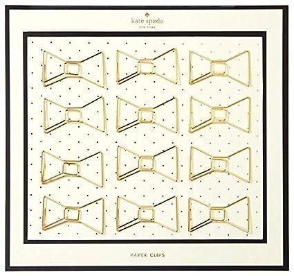 Kate Spade New York - Clips con forma de lazo, color dorado ...