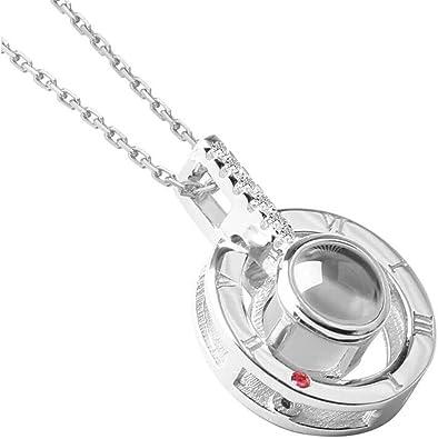 100 Language I Love You Projection Bracelet Crystal Heart Valentine/'s Jewelry UK