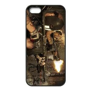 Army Of Two El Cartel EL Diablo 3 iPhone 5 caja del teléfono celular 5s funda Negro caja del teléfono celular Funda Cubierta EOKXLKNBC07071