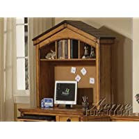 Tree House Collection 00134 Computer Hutch in Rustic Oak Finish