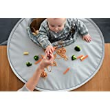 Tidy Tot All-in-One Bib and Tray Kit. Unisex. One Size fits 6 months – 2 years. Award Winning Weaning Aid (Dove Grey)