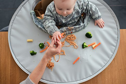 Tidy Tot All-in-One Bib and Tray Kit. Unisex. One Size fits 6 Months - 2 Years. Award Winning Weaning Aid (Dove Grey)