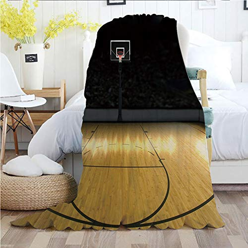 - Ylljy00 Teen Room Decor,Throw Blankets,Flannel Plush Velvety Super Soft Cozy Warm with/Empty Basketball Arena Competition Game Win Champion Success Theme/Printed Pattern(70