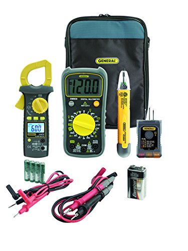 General Tools KT20 Electrical Testing Kit, Includes Multimeter, Clamp Meter, NCV Detector and Wire Circuit Tester by General Tools