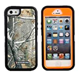 iCustomized (TM) Black and Orange Rugged Heavy Duty Hard Dual Layer Weather and Water Resistant Case with Camouflage Woods Design for the Apple iPhone 5S and 5 (AT&T, Verizon, T-Mobile, Sprint)