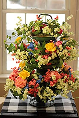 Garden Party Faux Flower Arrangement Available for Purchase | Floral Bouquet | Silk Flowers | Newlywed Home Accent | Olivia Rose Designs and Home on Amazon.com