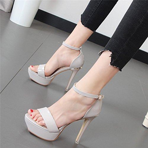 Xue Qiqi wilde Mädchen Sandalen high-heeled fein mit Tau - Mädchen Schuhe mit Schlitz