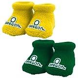 NCAA Oregon Ducks Green & Yellow Infant 2-Pack Bootie Socks