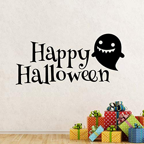 Clearviewdecor Happy Halloween Wall Decal Cute Gust Wall Sticker Front Door Vinyl Decals Removable Halloween Wall Mural Holiday Decor -
