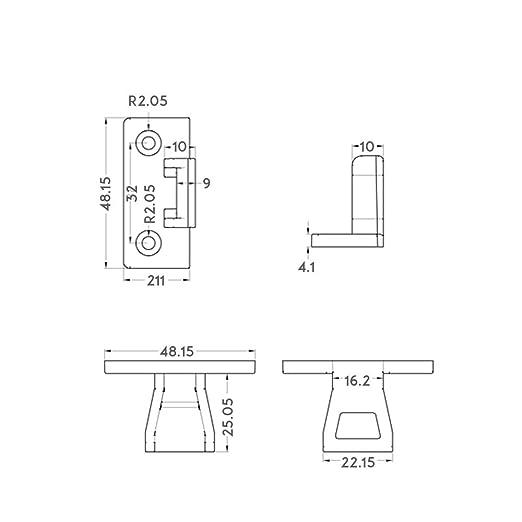 Clips para paneles con ajuste a presi/ón Keku 10 unidades