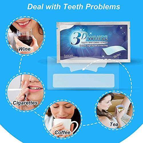 Teeth Whitening Strips, Herwiss 3D White Whitestrips with Mint Flavor for Gum Health and Refresh Breath, Dental Whitener Kit Elastic Gels for Teeth Stain Removal - 28pcs 14 Treatments for Teeth Care by Herwiss (Image #3)