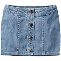 Saia jeans clara com botões Carter's